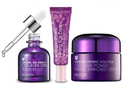 Mizon Collagen Enriched krém 50ml Oční 10ml Collagen 100 sérum 30ml