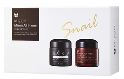 Mizon Dárkový set Snail All In One krém 75ml a Black Snail krém 75ml